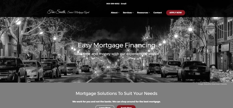 Tim Smith mortgages cityscape