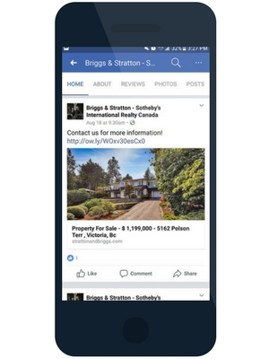 Facebook mobile example