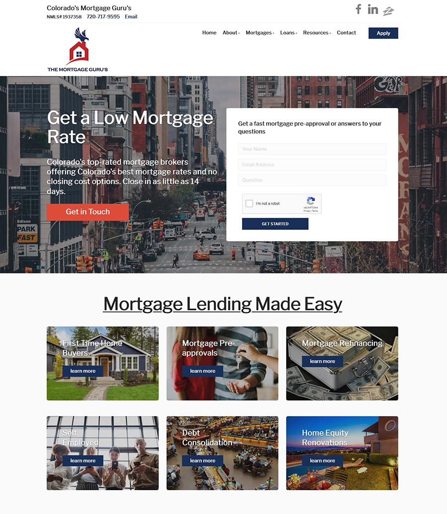 Chris Young - Mortgage Loan Officer Website design