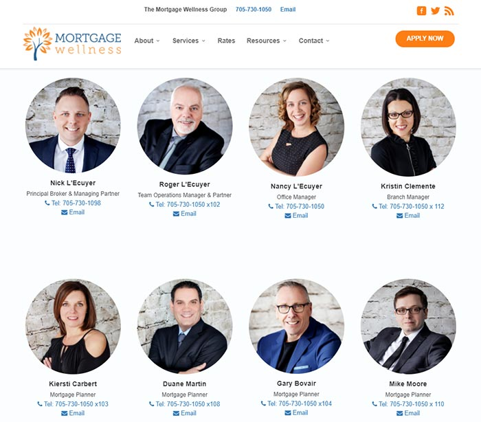 mortgage team page