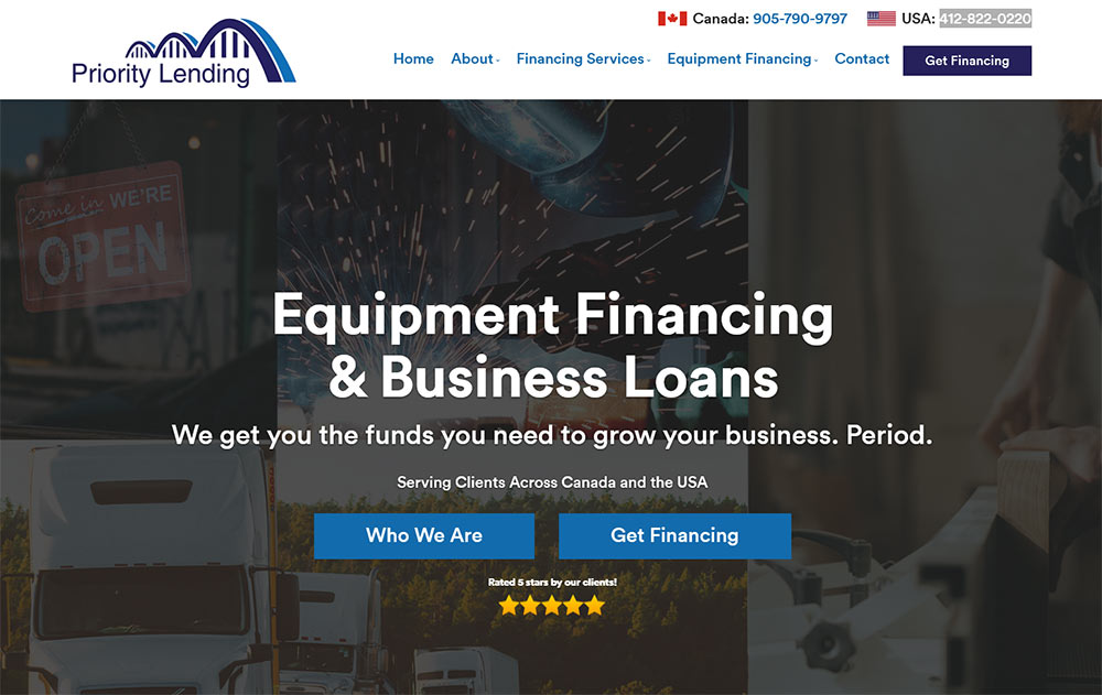 Equipment Financing & Business Loans