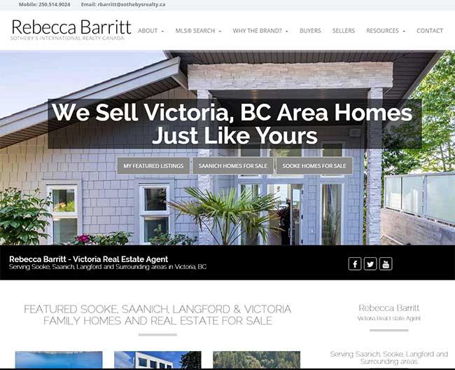 New Real Estate Website Optimization Client - Rebecca Barritt