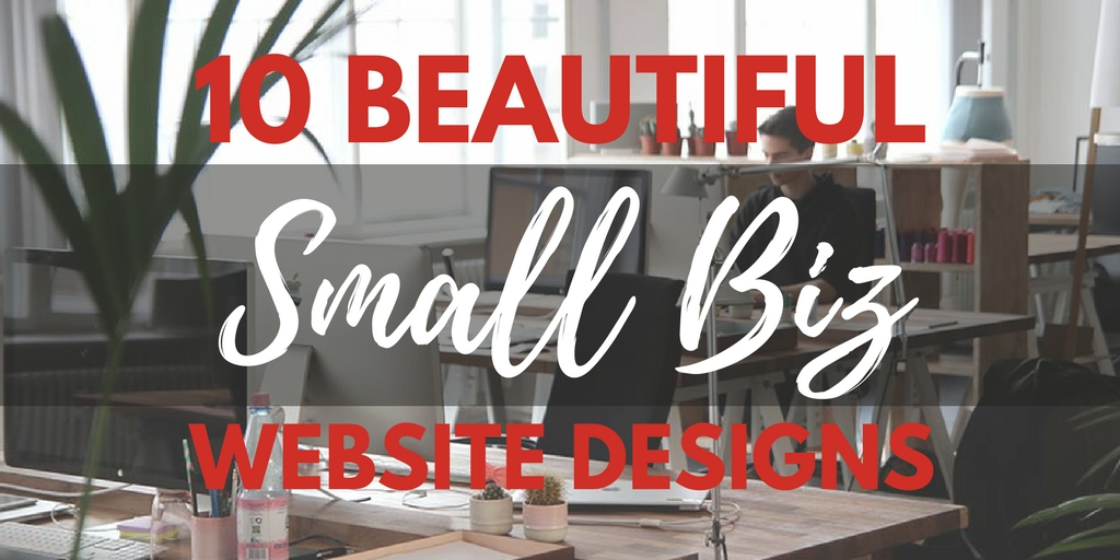 10 beautiful small biz website designs