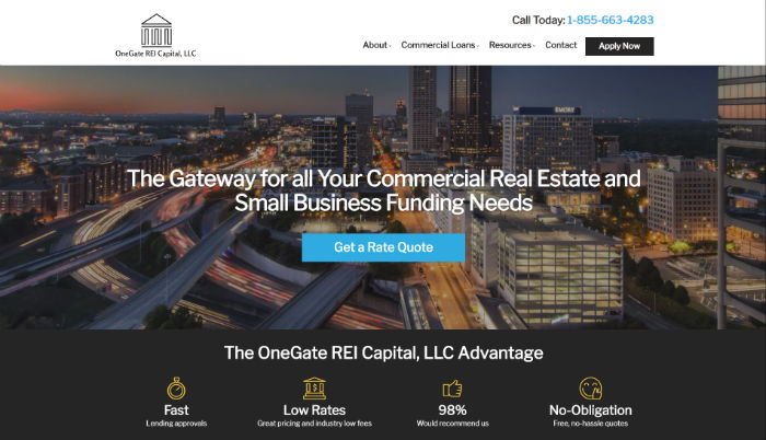 one-gate-commerical-finance-website