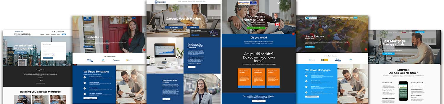 Mortgage, Real Estate and Small Business website examples
